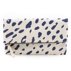 Clare V. Jaguar Print Fold Over Clutch ($165) ❤ liked on Polyvore featuring bags, handbags, clutches, pink purse, print handbags, foldover handbags, fold over handbag и fold over clutches