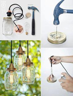 The lightbulb in the mason jar makes it!