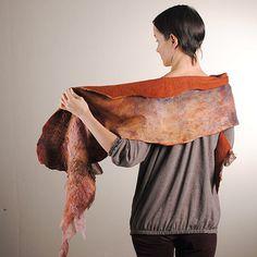 Wool nuno felted women scarf   Flickr - Photo Sharing!