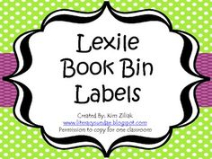 Lexile Labels for your classroom! Green Polka Dot