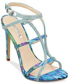 GUESS Women's Adalee Rhinestone Dress Sandals
