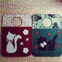 Felt Diy, Felt Crafts, Diy And Crafts, Felt Patterns, Sewing Patterns, Diy Craft Projects, Sewing Projects, Pochette Portable, Felt Phone