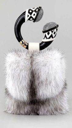 Tom Ford -- Mink Fur Bracelet Bag