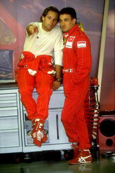 Gerhard Berger and Jean Alesi