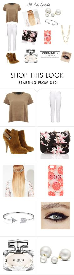 """""""Oh So Suede"""" by alexis123young on Polyvore featuring MINKPINK, Frame Denim, GUESS, John Lewis, Kate Spade, Bling Jewelry, Gucci, Allurez and Gorjana"""