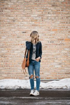The Perfect Blazer + My One Regret   spring style   outfit idea   how to wear a blazer   mom jeans   casual outfit   mom style   chloe bag   levis   j crew #style #fashion