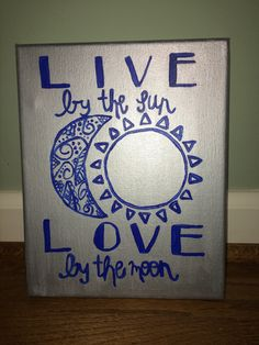 Live by the Sun Canvas by ArtisteRio on Etsy https://www.etsy.com/listing/449761006/live-by-the-sun-canvas