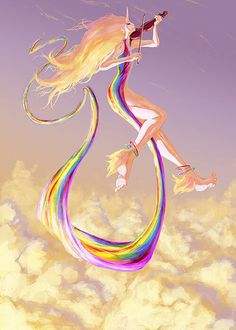 To all percy Jackson fans lady ranicorn human or IRIS??? coincidence I SHOULD THINK NOT!!!!