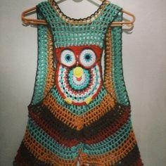 Colete crochet