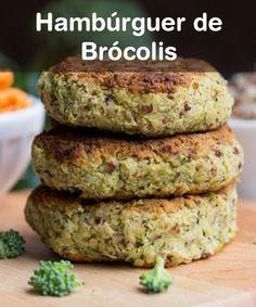 Ingredientes: / •1 maço médio de brócolis japonês cozido e picado (só as flores) / •1 cebola pequena picada / •1 clara / •2 colheres (sopa) de aveia em flocos finos / •3 colheres (sopa) de farinha de rosca / •meia xícara (chá) de maionese  / •meia colher (chá) de sal / •7 fatias de queijo-de-minas frescal light