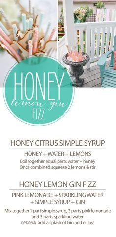honey lemon gin fizz