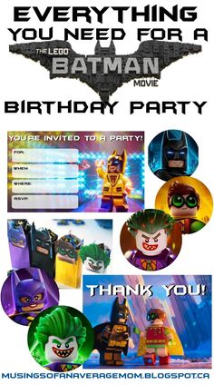 Lego Batman Birthday Ideas