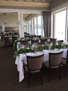 Eucalyptus and flower garland at The Marine Room La Jolla