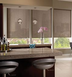 Solar Shades shown in M-Screen Deco Texture: River Rock