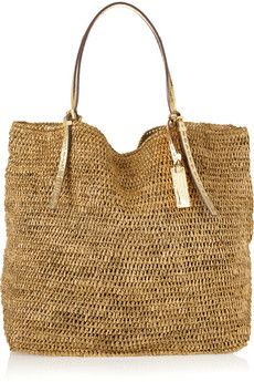 Michael Kors Collection - Santorini woven raffia shopper c78f38e0af7b4