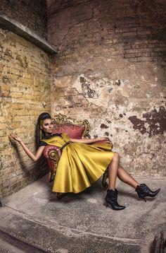 Glam - rock studded dress. #dresses