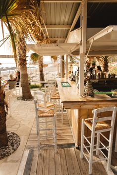Sea You Beach Bar - one of the most loved places near Paphos - a beach bar with stunning sunsets, the sounds of the sea and cocktails on the go. You gotta see this if you're visiting Paphos! Restaurant En Plein Air, Deco Restaurant, Outdoor Restaurant, Restaurant Design, Restaurant On The Beach, Beach Lounge, Beach Cafe, Surf Shack, Beach Shack