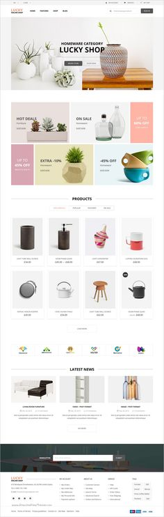Lucky Online Shop is a modern, clean and professional 14in1 #WordPress #Woocommerce Theme for stunning #furniture #shop eCommerce website download now➩ https://themeforest.net/item/lucky-online-shop-woocommerce-theme/18371302?ref=Datasata