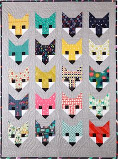 Based on Elizabeth Earhart's Fancy Fox Pattern, our kit is full of fun fabrics. Skill Level: Strong Beginner. From The Pine Needle Quilt Shop