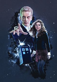 The 12th Doctor and Clara Oswald.