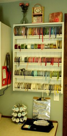 Ribbon Storage...I want to know how to make it, or where I can buy it!