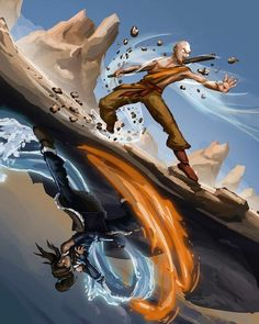 Aang and Korra - Avatar
