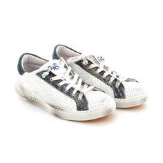 2STAR SNEAKER LOW BIANCA BLUE TEEN  Sneaker bassa bianca e blue modello Low   madeinItaly 76b93c91bf6