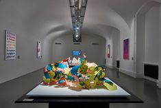 MAK Exhibition View, 2020 CREATIVE CLIMATE CARE Chien-hua Huang. Reform Standard in the front: plastic shell (Final model outcome) MAK GALLERY © MAK/Georg Mayer Vienna, Shell, Museum, Plastic, Architecture, Gallery, Creative, Model, Design