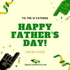 Happy Father's Day to the #1 Fathers out there... Have a blessed day from @jamaicalandwelove876  #fathersday2020 #jamaicalandwelove #jamaicanice #everythingjamaican #bestfatherever #jamaicanfather 🇯🇲 Have A Blessed Day, Happy Fathers Day, Our Love, Jamaica, Happy Valentines Day Dad, Negril Jamaica