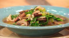 Chicken and Pearled Barley (Orzo) Soup is #whatsfordinner tonight! Get the…
