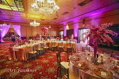 The Ballroom at Church Street's I Do Downtown Bridal Crawl's reception set up with our brown chiavari chairs.