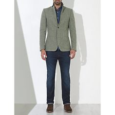 Buy JOHN LEWIS & Co. Abraham Moon Wool Deconstructed Blazer, Natural Online at johnlewis.com