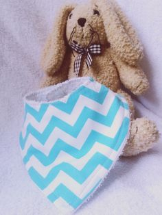Aqua blue Chevron Bandana bib for baby girls and by LikeSewiously Blue Chevron, Aqua Blue, Towel Boy, Bandana Bib, Baby Bibs, My Etsy Shop, Boys, Girls, Trending Outfits