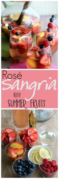 Rosé Sangria with Summer Fruits - The Ultimate Summer Sangria | Pook's Pantry