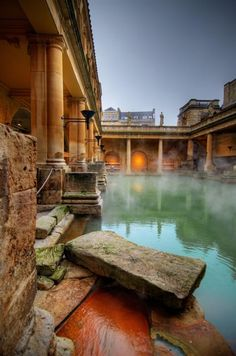 Roman Baths in Bath, England. Two of my favorite cultures: Rome and England. Places Around The World, Oh The Places You'll Go, Places To Travel, Places To Visit, Around The Worlds, Vacation Places, Vacation Ideas, Wonderful Places, Beautiful Places