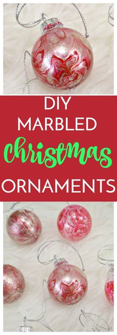 If you're into a handmade Christmas, you have to try these DIY Marbled Christmas Ornaments! They are so simple and make a huge impact!
