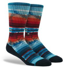 These unique Stance socks are colorful enough to stand out amongst your sock collection and unique enough to make a statement with any outfit paired with them.