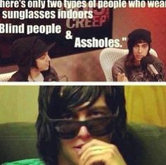 XD Vic would only call kellin an asshole because he thinks his bum is cute. #kellic