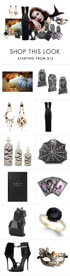 """Untitled #1324"" by brandedwitch ❤ liked on Polyvore featuring Diego Percossi Papi, Yasmin Kianfar, Melrose International, Bernard Delettrez, Smythson and Giuseppe Zanotti"