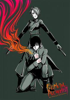 Roy and Riza - Fullmetal Alchemist fan art
