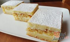 Šťavnatý vanilkový koláč s jablky | NejRecept.cz Healthy Foods To Eat, Healthy Baking, Sweet Desserts, Sweet Recipes, German Cake, Cake & Co, Fabulous Foods, Sweet And Salty, Something Sweet