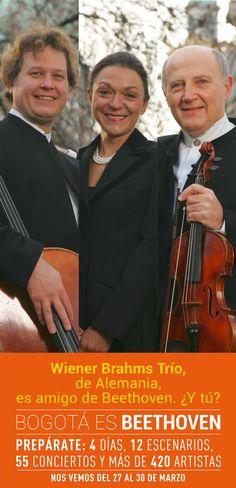 Wiener Brahms Trío lo conforma tres músicos de cámara de fama mundial que han ganado, también como solistas, gran número de premios de rango internacional. Fundado en 1993, España, Suiza, Rusia, Inglaterra, Francia, Escandinavia —y ahora Colombia— son algunos de los países en los que estos maravillosos músicos son recibidos con oídos y brazos abiertos. / Consulta la programación enwww.bogotaesmusica.com / Asiste a sus conciertos 13, 18, 45 ¡Nos vemos del 27 al 30 de marzo en Bogotá es…