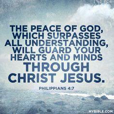 Phillippians 4:7 ... My rock in the storm, Jesus Christ.. Love it!