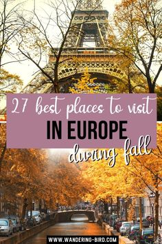 Looking for the best places to experience Fall in Europe? Want to see the autumn colours and know the best places to visit and cities to see fall foliage? Here are 27 of the BEST Fall Europe travel ideas for Europe. Europe travel tips | Autumn in Europe | Places to visit in Europe | Best cities to visit in Europe to see fall foliage #europetravel #autumn #fall #europe Top Europe Destinations, Europe Places, Europe Europe, Road Trip Europe, Europe Travel Guide, Travel Abroad, Travel Guides, European Travel Tips, European Vacation