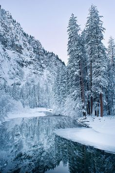 Winter in Yosemite, California