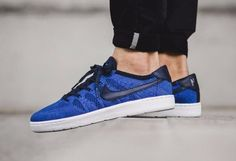 Nike Tennis Classic Ultra Flyknit Mens Shoes 9 Navy Racer Blue 830704 401 #Nike #Casual