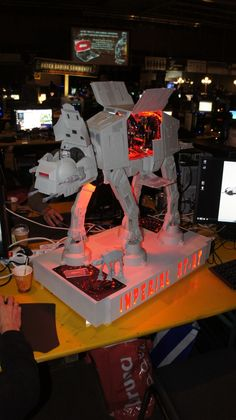 AT-AT computer at a LAN party in the Netherlands.  courtesy of CNET