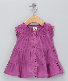 Take a look at this Crocus Tiered Organic Dress - Infant & Toddler by Kite Kids on #zulily today!