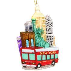 Kurt Adler NYC Cityscape Glass Ornament