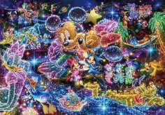 Tenyo (DS-771) Disney Stained Art Wishing to Starry Sky Jigsaw Puzzle (1000 Piece) Art Disney, Disney Mickey, Disney Magic, Disney Calendar, 2015 Calendar, Disney Jigsaw Puzzles, Minnie Mouse, Disney Wishes, Pokemon